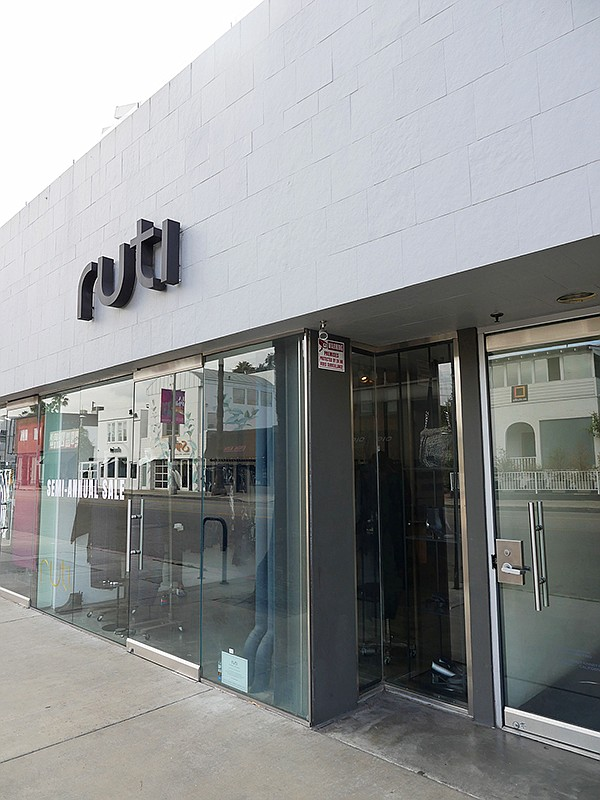 Ruti boutique on Los Angeles' Abbot Kinney Boulevard