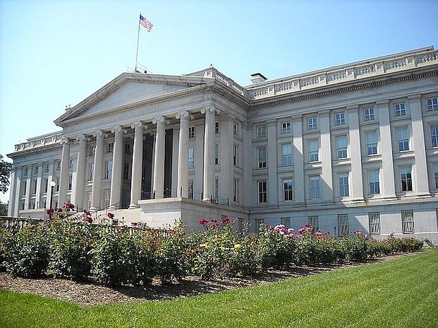 U.S. Treasury Department building.