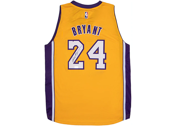 Autographed Kobe Bryant jersey to be raffled in StockX's Campaign for a Cause. Images courtesy of StockX