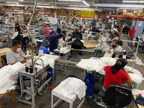 The Los Angeles Apparel factory Photo: Los Angeles Apparel