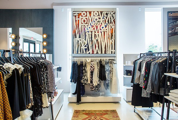 Interior of Elysewalker boutique in Pacific Palisades, Calif. Image courtesy Elysewalker