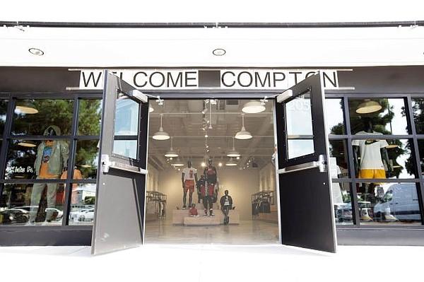 Exterior of Foot Locker's Power Store in Compton, Calif.  Photo: Foot Locker