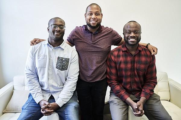 From left, Yaw Owusu-Barimah, Leandrew Robinson and Akintunde Ismail Maiyegun Photo: Hingeto