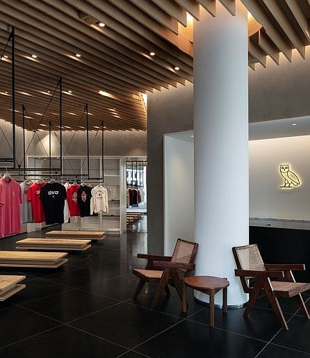 Interior of OVO flagship at The Grove. Image courtesy of OVO