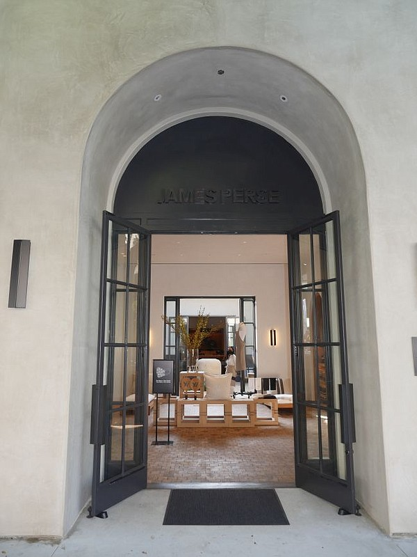 Entrance to James Perse's furniture and home flagship on Robertson Boulevard
