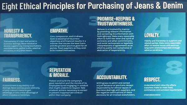 "In its report ""Ending Unethical Brand and Retailer Behavior: The Denim Supply Chain Speaks Up,"" the Transformers Foundation identified behaviors that hurt suppliers and provided solutions for a sustainable industry, which includes its ""Eight Ethical Principles for Purchasing of Jeans & Denim."""
