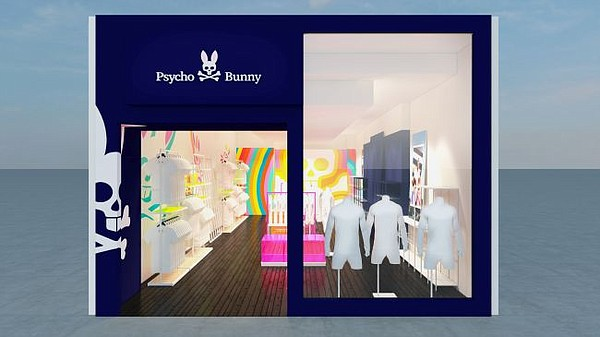 Rendering of Psycho Bunny store in South Coast Plaza. Image: Psycho Bunny