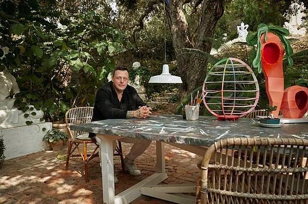 Urs Fischer at his Los Angeles studio. Picture: Louis Vuitton