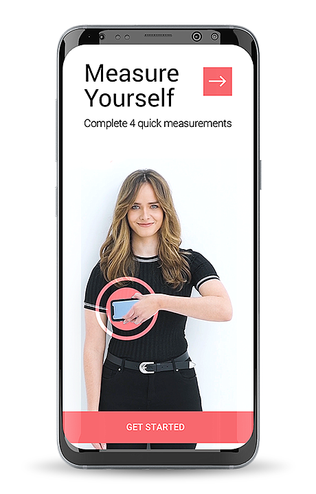MySizeID's body-measuring service uses information gleaned from sensors in a smartphone along with the company's patented algorithm.