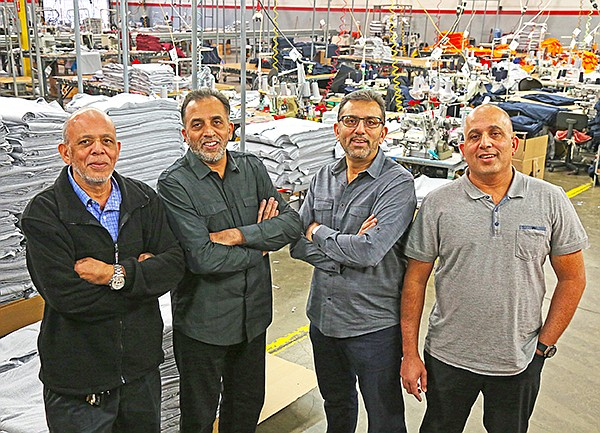 AST Sportswear is indeed a family affair, started in 1994 by (from left to right) brothers Mohamed, Ali, Abdul and Omar Dadabhoy. | Photo courtesy of AST Inc./Dadabhoy family