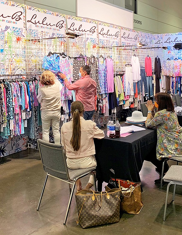 """At the WWIN show, many retailers were betting on a return to colors and """"dressing up"""" post-pandemic.   Photo courtesy of WWIN"""