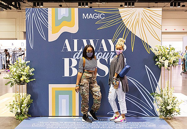 """After a year of no on-site shows, Informa Markets Fashion said the """"sense of normal business"""" at Magic Pop-up Orlando was felt by both exhibitors and attendees alike. 