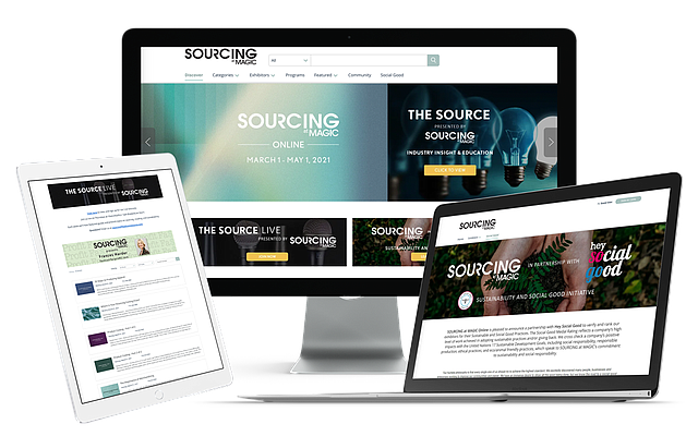 Sourcing at MAGIC Online added an environmental factor to this edition, verifying brands and retailers for sustainable practices, ethical works and giving back.   Image courtesy of Sourcing at MAGIC Online