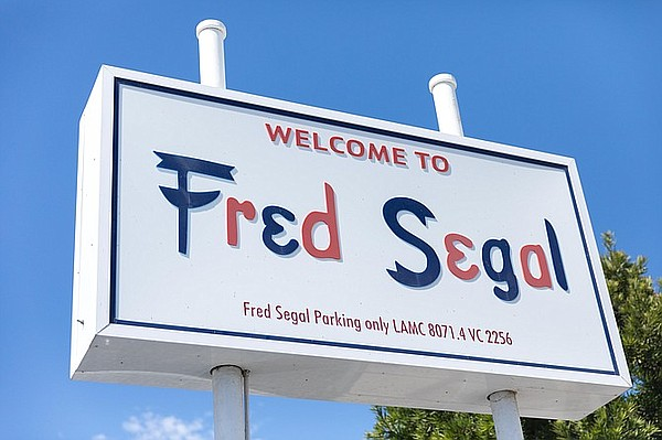 Fred Segal marquee sign. Picture taken in 2020. Image: Fred Segal