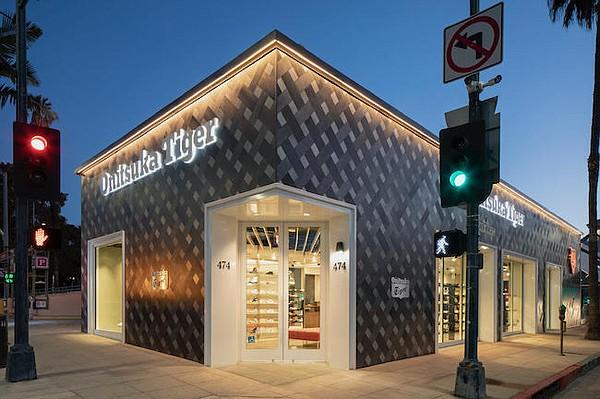 Onitsuka Tiger's new Rodeo Drive shop. Image: Josh Cho Photography