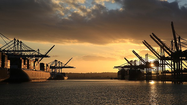 "The Port of Los Angeles experienced a surge in cargo traffic in March, described by Executive Director Gene Seroka as ""March Madness."" 