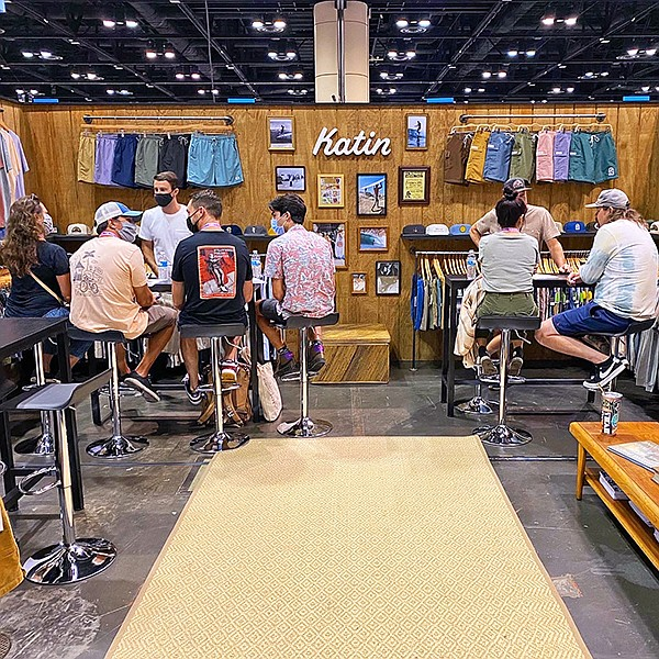 Surf Expo's Sept. 9-11 show at Orlando, Fla.'s Orange County Convention Center saw buyers return, ready to shop, as exhibitors such as Compton, Calif., brand Katin USA felt business boom. | Photo courtesy of Surf Expo