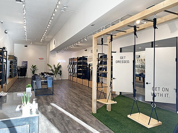 """DUER's claim to fame is its """"performance playground,"""" which allows customers to """"test-run"""" its products before purchase, or, as the company states: Get Dressed and Get On With It."""
