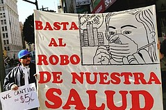 Garment Workers Group March in Downtown Los Angeles