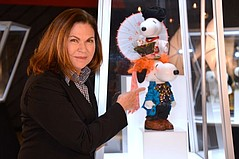 Post Oscar, Colleen Atwood at Beverly Center's Snoopy Fashion Exhibit