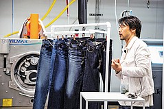 Fast Retailing Treating Denim Jeans in Southern California With Water-Saving Techniques