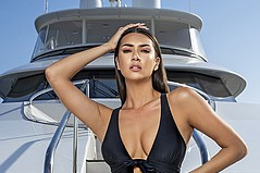 Andréa Bernholtz Embraces Yacht Life With New Swiminista-Lacroix Collection