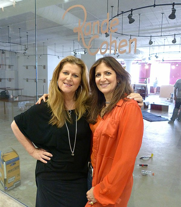 Julie Mandell and Rande Blatt Cohen at the Rande Cohen Showroom at The New Mart.