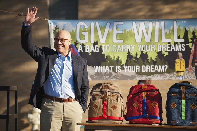 ... Will Leather Goods  Give Will Foundation backpack giveaway (Photo by  Jonathan Moore) ... a8bdff128abd