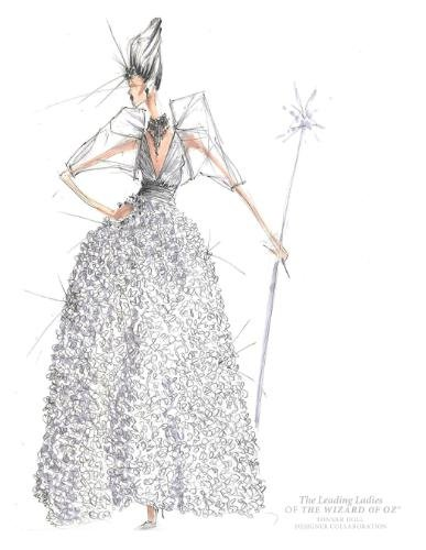 BCBGMaxAzria creation for Glinda the Good Witch