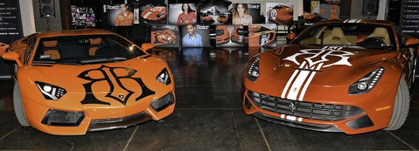Lamborghini Aventador (left) or Ferrari F12 Berlinetta (right)? You decide! (Photo by David Levin)