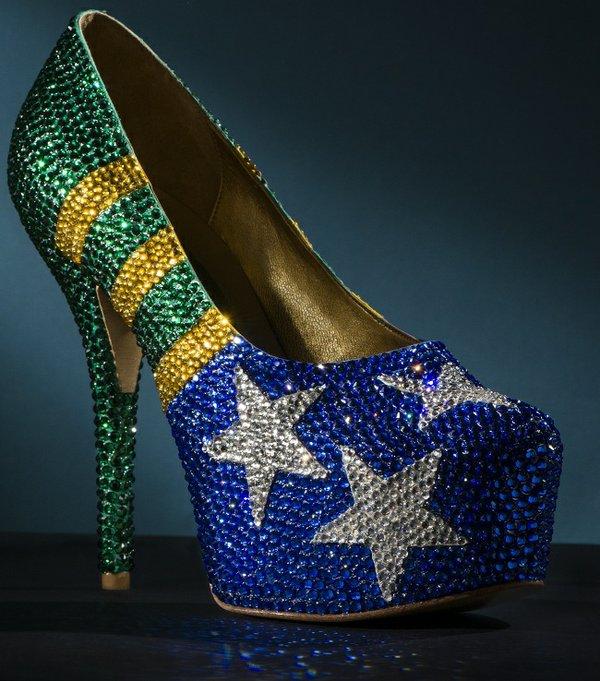 Brazilian footwear designer Fernando Pires' World Cup-inspired shoe