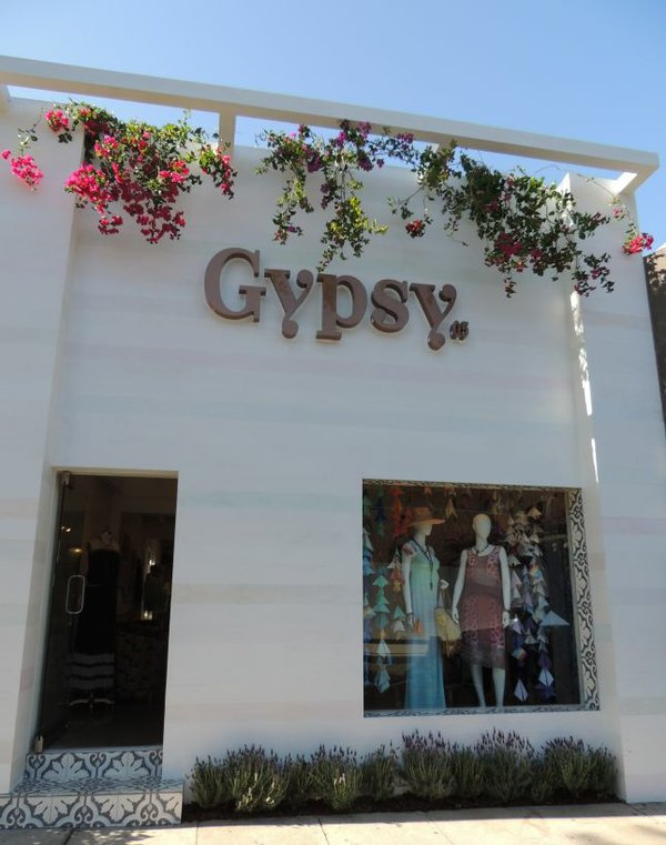 Exterior of Gypsy05's Robertson Boulevard area boutique.