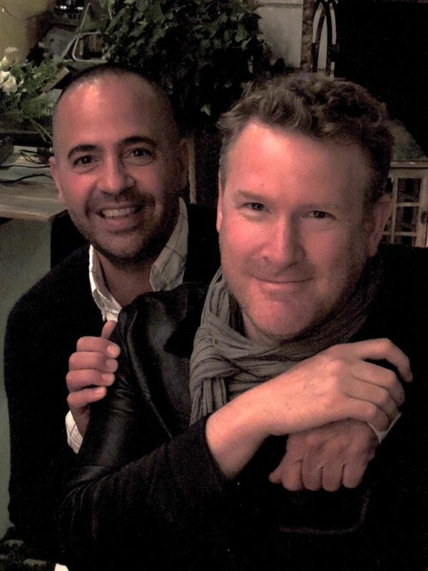Project's Tommy Fazio, left, with Todd Snyder at a party celebrating the Todd Snyder shop-in-shop at Union Made.