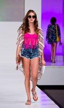 Eco Peace bikini top, Blue Republic jean, Love Posh kimono