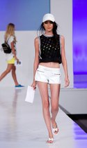 Zenana bandeau, Dollhouse short, Urban Doll tank, The Accessories Collective hat