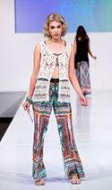 Mechant vest, New Direction pant, Lucky Brand bikini top
