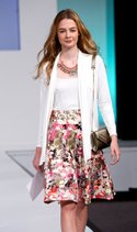Courtney Dee tank and cardigan, ECI skirt