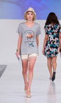 Living Doll tee, Jolt short, The Accessory Collective hat