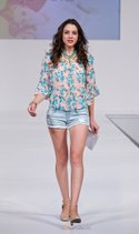 Late for Dinner peasant top, Almost Famous short