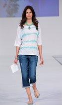 By Design sweater, Democrasy denim crop