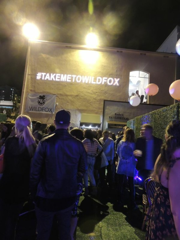 Scene in the courtyard of the Wildfox party on Oct. 16.