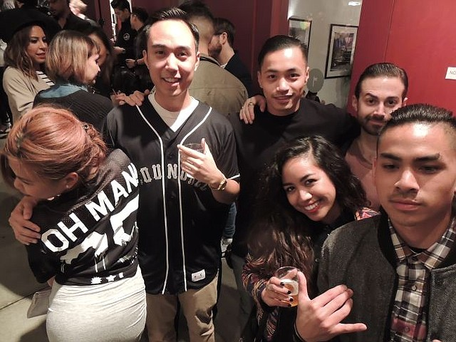 The Oh Man! Clothing brand crowd. From left, Lisa Dang, Nam Ho (the brand's moniker is his name spelled backward) and their friends.