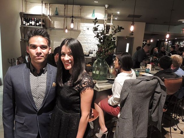 Israel Ramirez and Lucy Thompson at the debut of Pez Cantina.