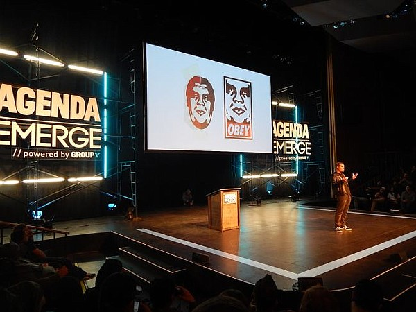 Shepard Fairey speaks at 4th Annual Agenda Emerge Conference.