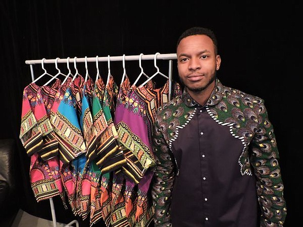 Kevin Afuwah of Royal Kulture at Jan. 17 viewing event for his line.