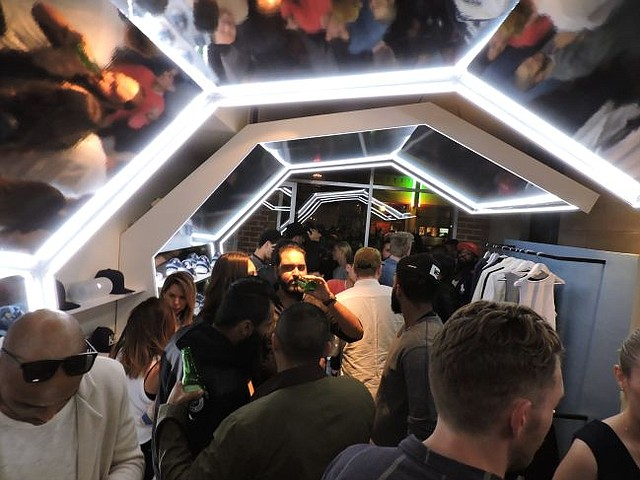 May look like a spaceship, but it's the interior of the Kith pop-up shop at 1638 Abbot Kinney Blvd.