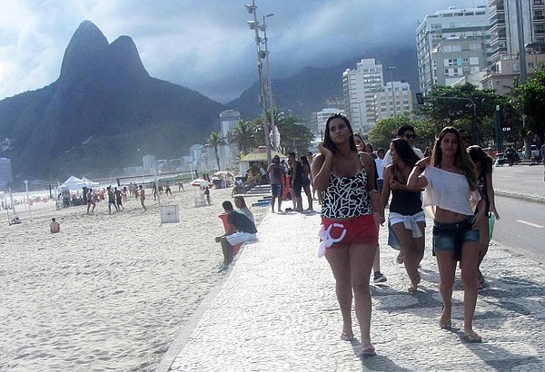 Sunny, summer weather in Rio in February.