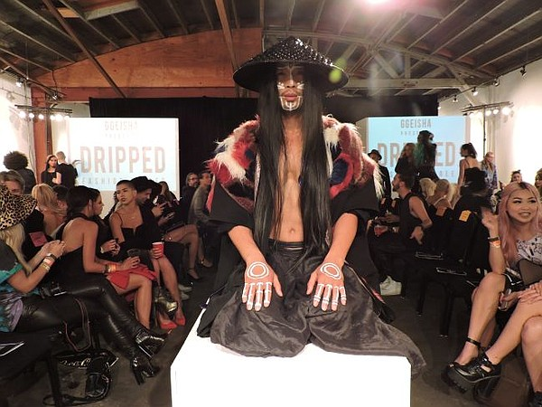 Before the Dripped runway show, Viet Dang, pictured above, showed a dance performance. Photo by Andrew Asch.