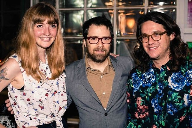 Rivers Cuomo of Weezer, center, with Katy Goodman and Todd Wisenbaker of La Sera. Photo courtesy of Insight.