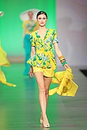 FIDM designer Marly Kluge's bright outfit